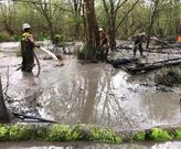 Cleanup of a Rover Pipeline spill near the Tuscrawas River in Stark County that occurred in Spring 2017.  Photo Credit: Ohio EPA