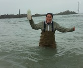 Water Sampling in Lake Michigan for a lab class at Loyola in the Spring